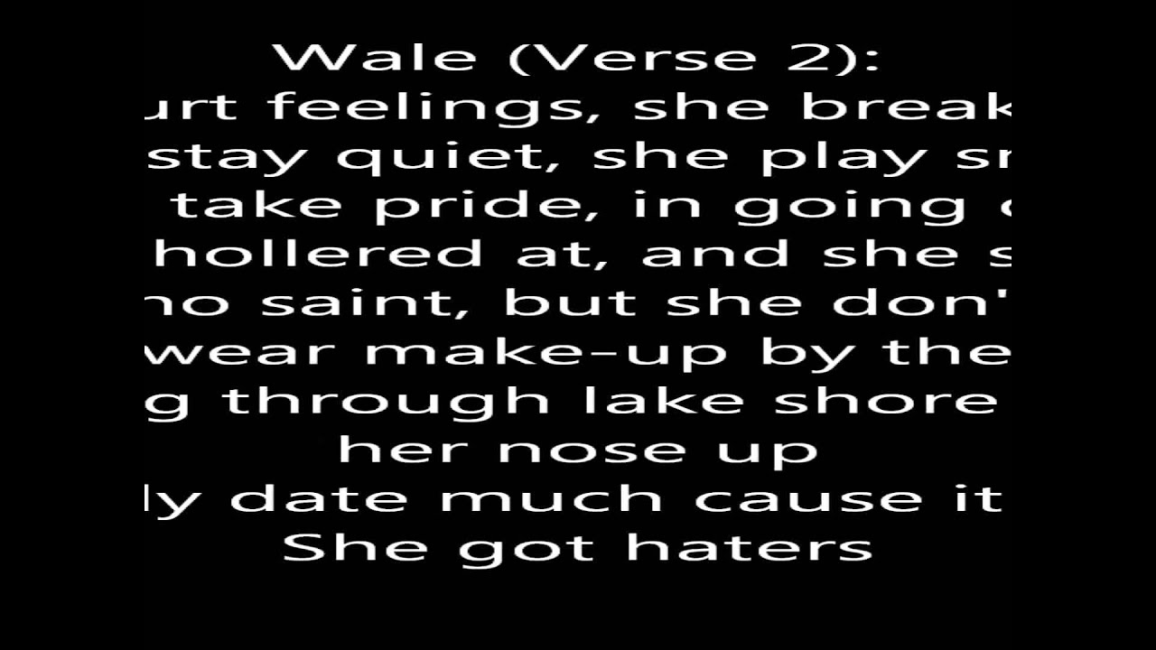 Wale Ft Tiara Thomas Bad Lyrics On Screen Chords Chordify
