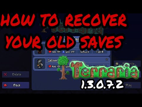 How To Restore Cloudsave World Character In Terraria 1 3 Mobile Youtube