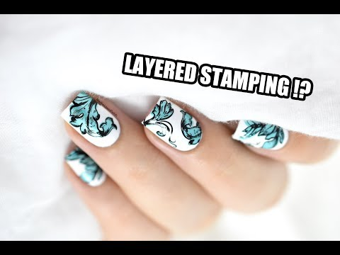 How To: Layered Stamping Nail Art ft. Clear Jelly Stamper || Marine Loves Polish