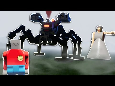 GRANNY'S MECH SPIDER SURVIVAL! - Brick Rigs Multiplayer Gameplay - Lego Granny survival