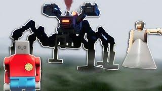 GRANNY'S MECH SPIDER SURVIVAL! - Brick Rigs Multiplayer Gameplay - Lego Granny survival