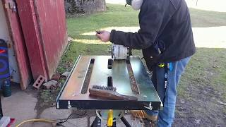 BEST Welding Table For The Money-Harbor Freight! Unboxing, Initial Review, First Use, Weight Test!