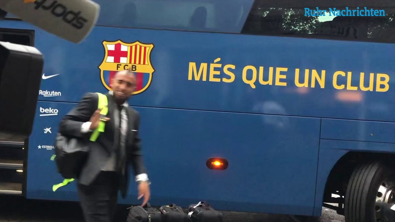 Die Ankunft des FC Barcelona in Dortmund