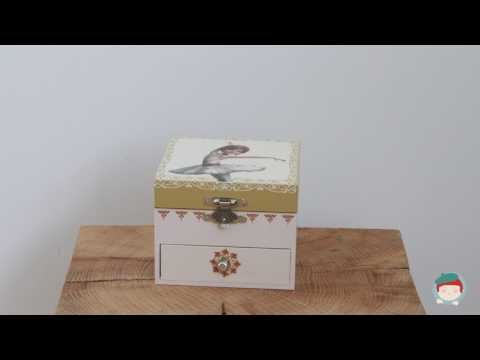 Musical Cube Box Ballerina  from Trousselier on Jeujouet.co.uk