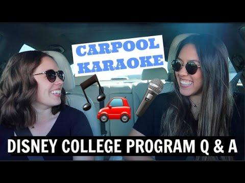 DISNEY COLLEGE PROGRAM Q & A + DCP ADVICE | CARPOOL KARAOKE STYLE | TPARTY