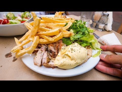 Greek Chicken Gyro Plate & Breathtaking Views of Athens, Greece!