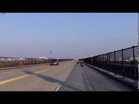 Ocean City, MD   Part 1   Driving East Across Rt 50 Bridge