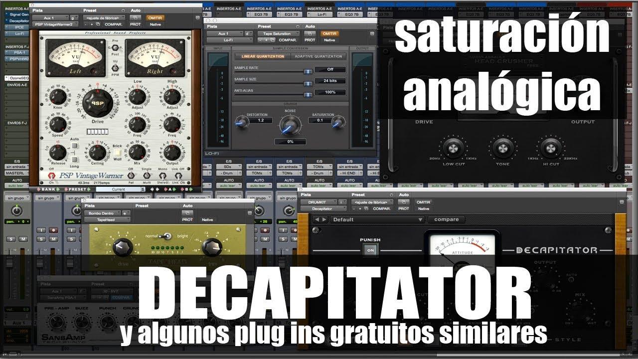 Cómo utilizar Decapitator y otros plug ins de saturación gratuitos