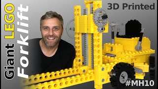 3D Printed GIANT LEGO Forklift Build! - Mantis Hacks E10