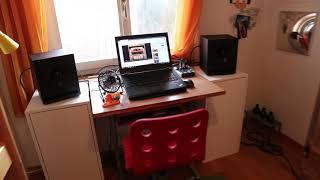 Active Monitorboxen Eigenbau | Homemade Active monitor speaker + soundcheck