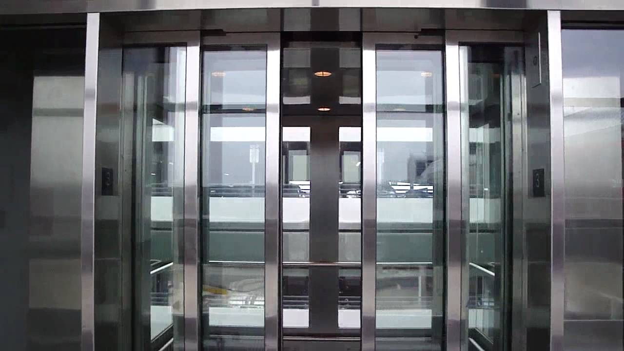 Large Schindler Full Glass Elevator At The Terminal 5