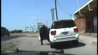 77-year-old Elderly Woman Physicaly Removed From Car By Texas Police