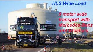 HLS Wide Load   Actros 6x4 heavy transport