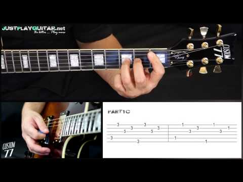 [ NICKELBACK - How you remind me ] How to play part 2/2 [ free guitar lesson ] with tabs