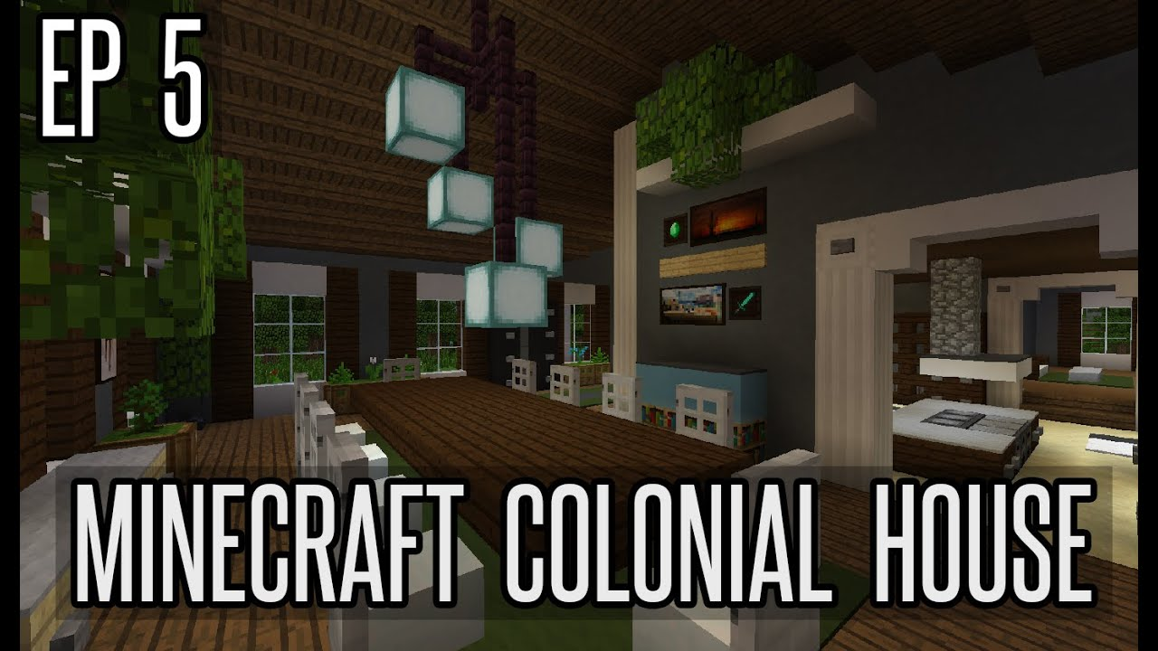 How To Build A Dining Room In Minecraft   Colonial House Part 5