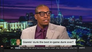 Is Giannis Antetokounmpo dunk the best in-game dunk ever?   NBA Countdown