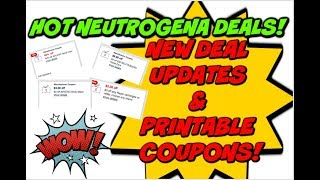 MUST WATCH DEAL UPDATES & NEW COUPONS | AWESOME NEUTROGENA DEALS!