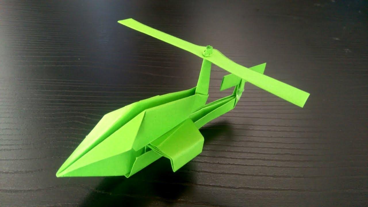 Origami Helicoptero Como Hacer Un Helicoptero De Papel Avión Facil De Hacer Youtube