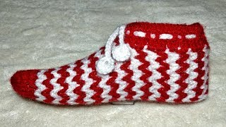 How to Crochet Woollen Socks #3