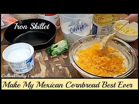 How We Make Mexican Cornbread, Best Old Fashioned Southern Cooks!
