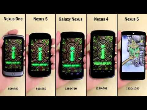 Nexus 5 vs Nexus 4 vs Galaxy Nexus vs Nexus S vs Nexus 1