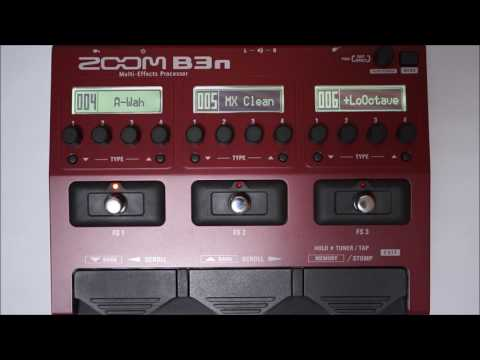 ZOOM B3N B3next Multi-Effects Processor for Bass PATCH 001-009