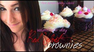 Red Velvet Brownie Cupcakes | Five Minute Pastry School