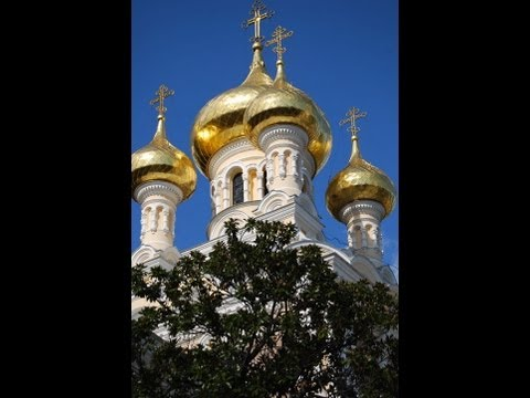 Golden Domes of Alexander Nevsky Cathedral in Yalta