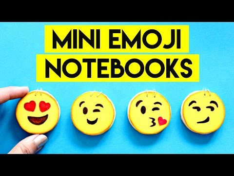 DIY | EASY MINI EMOJI NOTEBOOKS TUTORIAL - Emoji Back To School Supplies - Emoji Notebook DIY