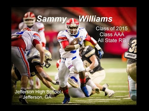 Sammy Williams  2015 All State RB  Career Highlights  Jefferson High School GA