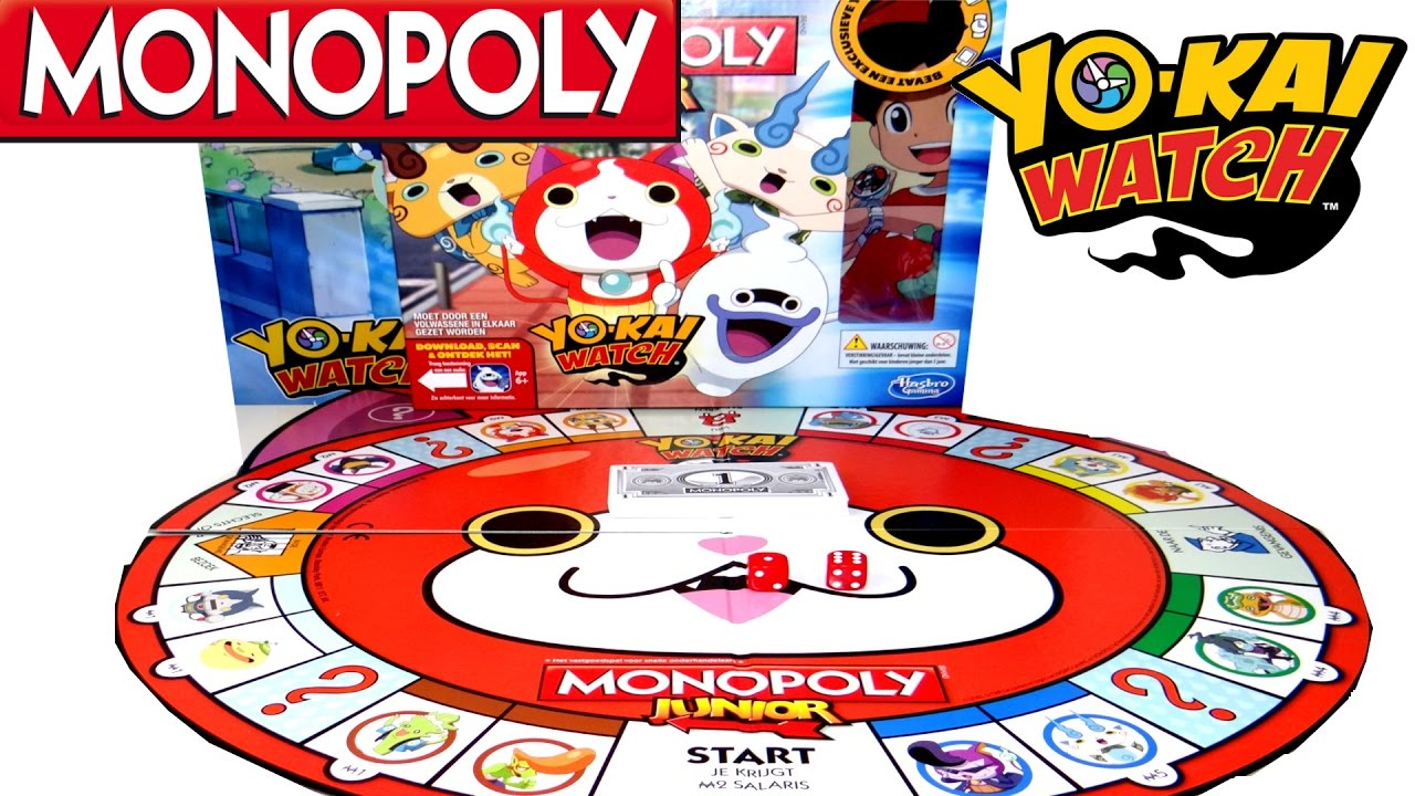 Yo Kai Watch Juego De Monopoly Junior Monopolio De Mesa De Yokai De Hasbro