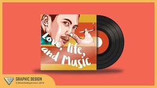 Creating vinyl record - Illustrator Tutorials For Beginners