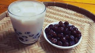 Trân châu đen- trân châu cafe || cách pha trà sữa trân châu đen tại nhà ||Thanh Tâm Food