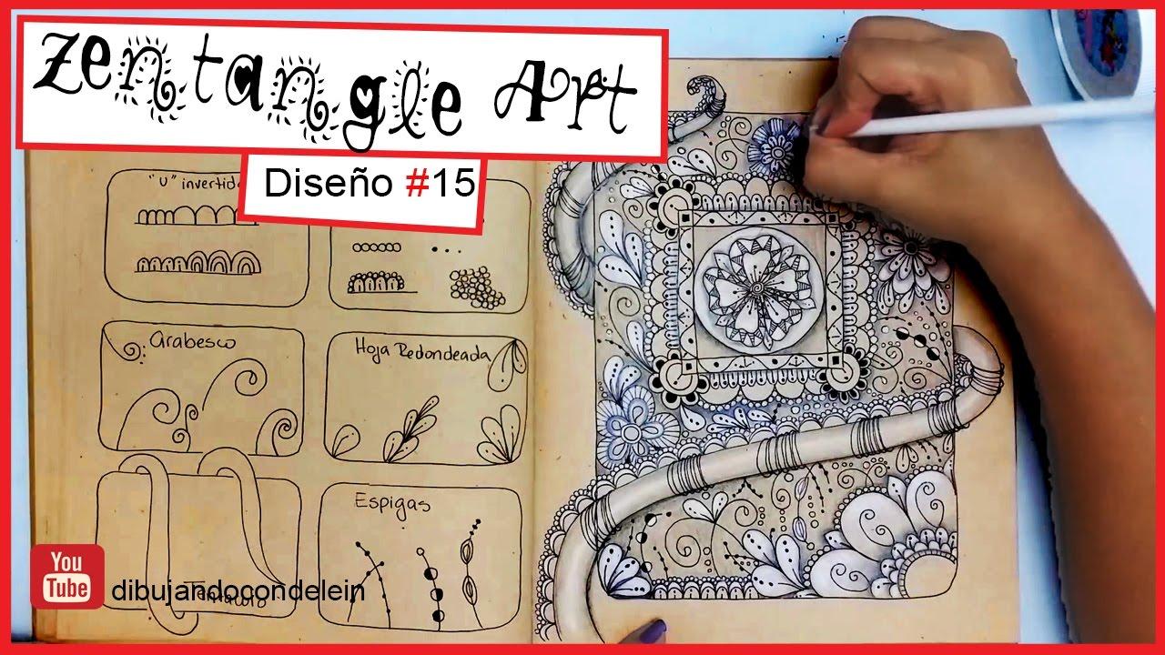 Como Dibujar Zentangle Art Paso A Paso 15 Zentangle Pattern Youtube