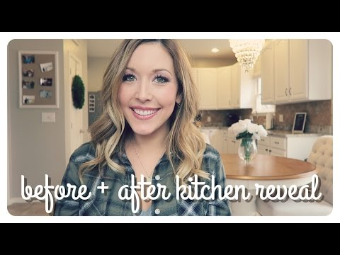 Kitchen Reveal   Before + After - Chocolate To Off-white Cabinets