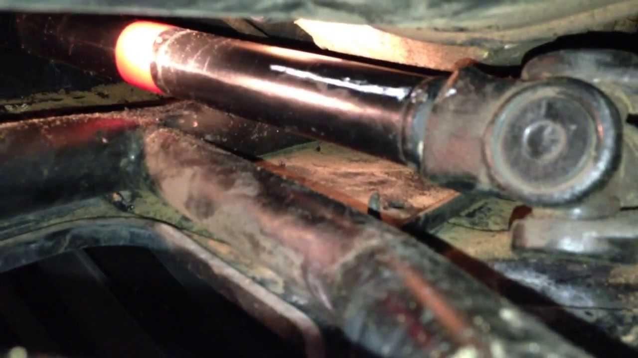 2011 polaris rzr xp 900 rear prop shaft bend and repair [ 1280 x 720 Pixel ]