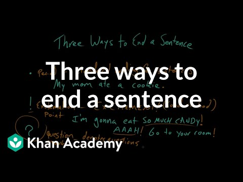 Three Ways To End Sentence