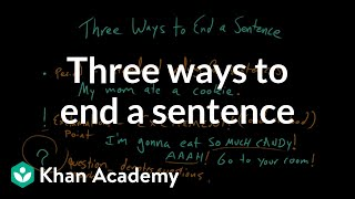 Three ways to end a sentence | Punctuation | Khan Academy