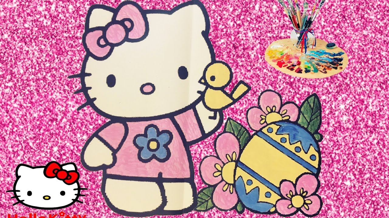 Hello Kitty Pasqua Hello Kitty Da Colorare Disegni Da Colorare