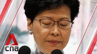 Hong Kong's Carrie Lam says she would 'quit' if she could | Audio recording excerpts