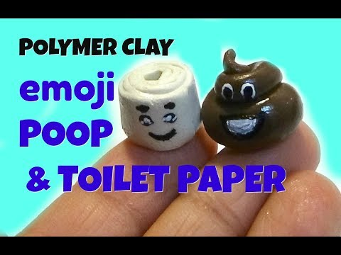 DIY Poop Emoji with Toilet Paper / Polymer Clay Tutorial