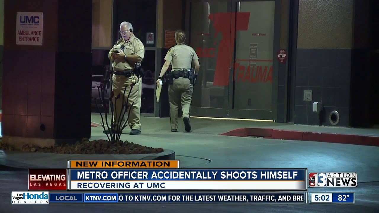 Las Vegas Metro Police Officer Accidentally Shoots Himself