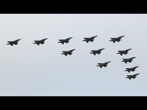 小松基地航空祭2016 F-15 12機大編隊 JASDF Komatsu Air Show F-15 Big Formation