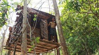 """""""สร้างบ้านบนต้นไม้""""ในป่าลึก เอาชีวิตรอด 48 ชม."""