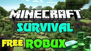🔴 FREE ROBUX GIVEAWAY | Minecraft HARDCORE! | 400 ROBUX GIVEAWAY IF I DIE | $2 Drop Inv | SELLOUT