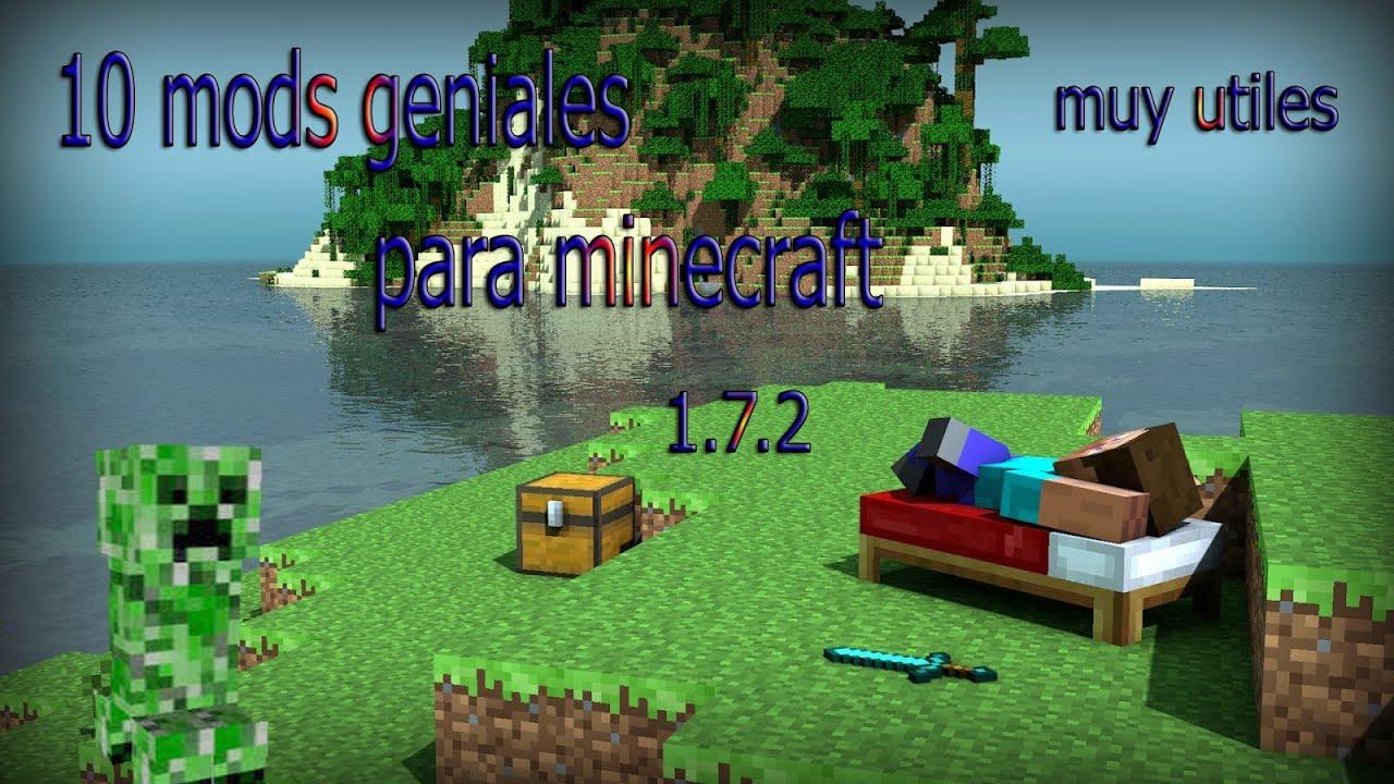 10 mods geniales.minecraft 1.7.2 - YouTube