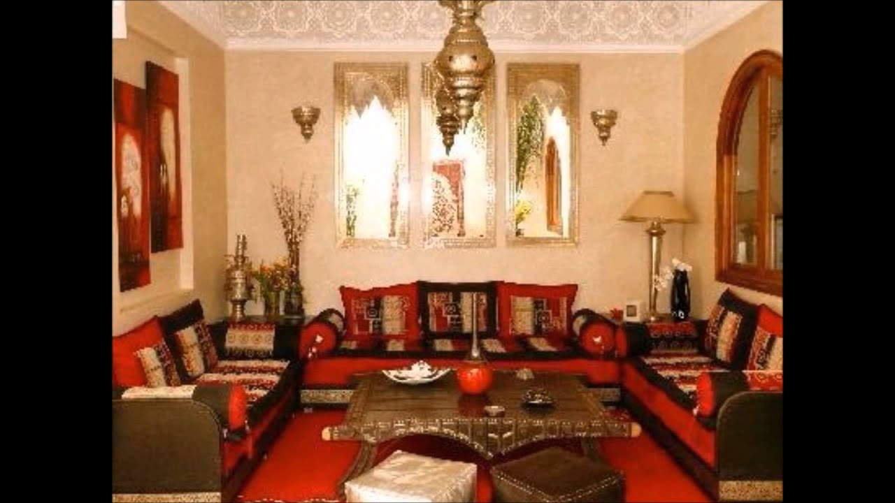 Maroc salons et decorations youtube for Decoration salon marocain