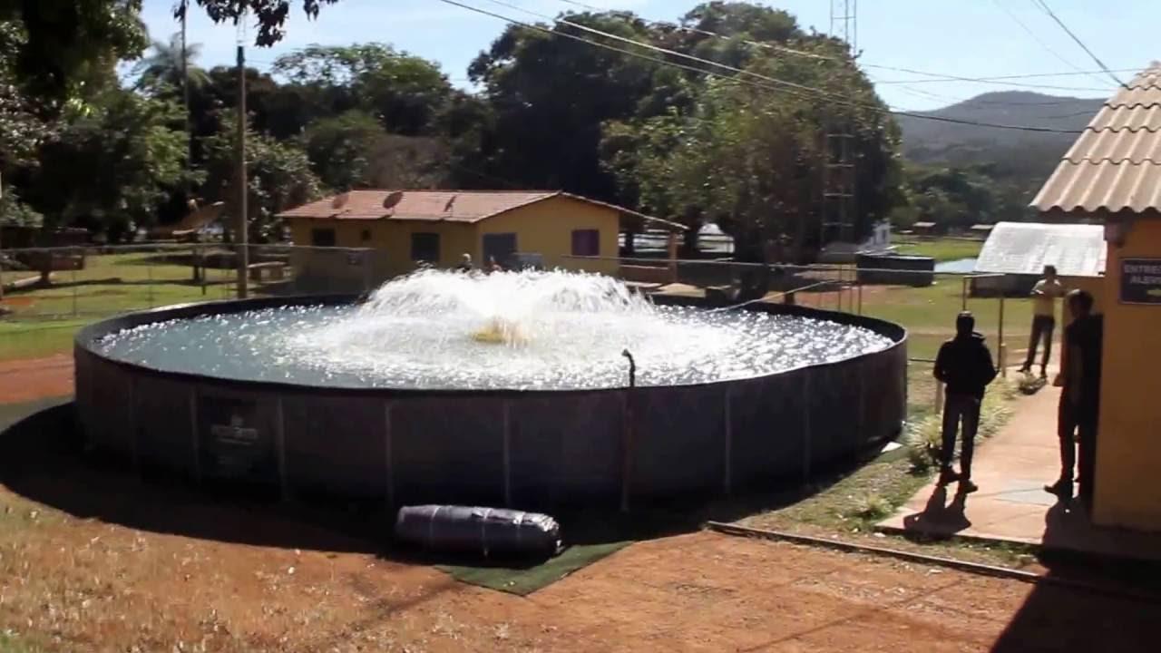 Tanque suspenso circular ecofarm youtube for Piscicultura en tanques plasticos
