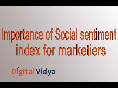 Importance of Social Sentiment Index for Marketers
