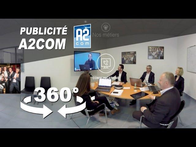Publicité immersive 360° pour la Société A2COM